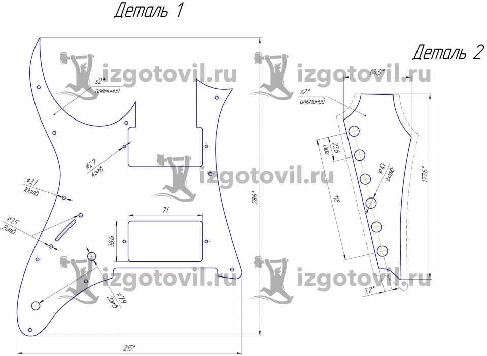Лазерная резка - изготовление накладок