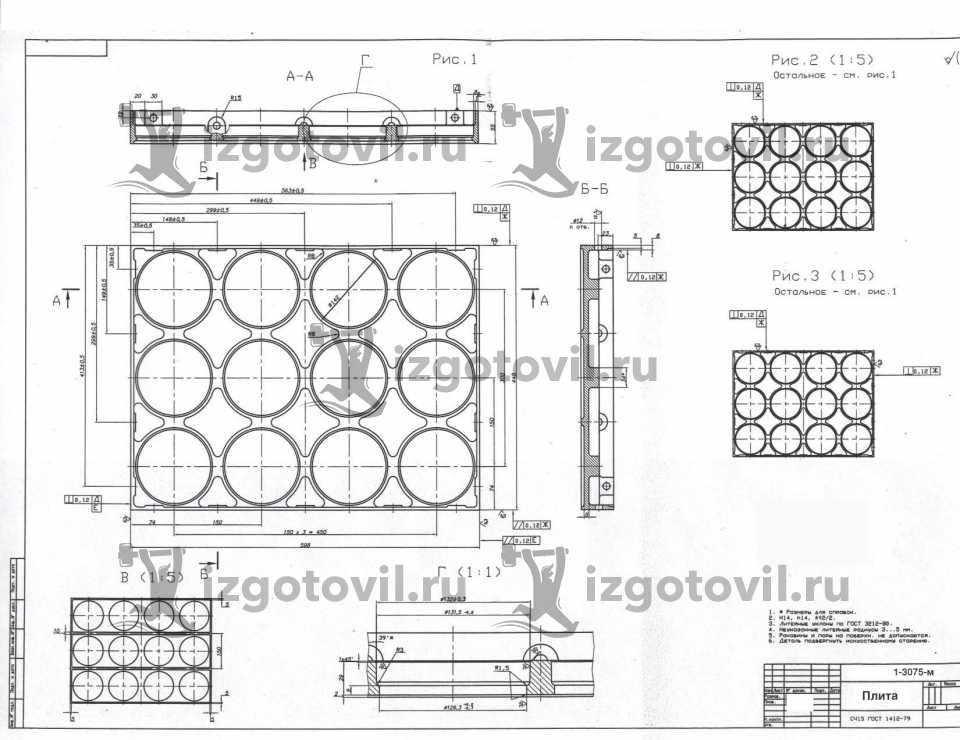 Литейное производство - изготовление плит