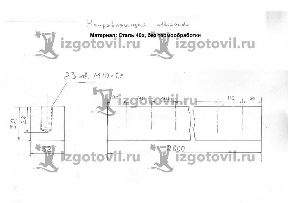 Фрезеровка - изготовление направляющей