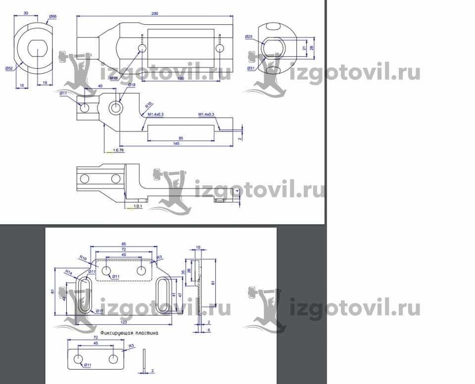 Токарно-фрезерная обработка-изготовление детали