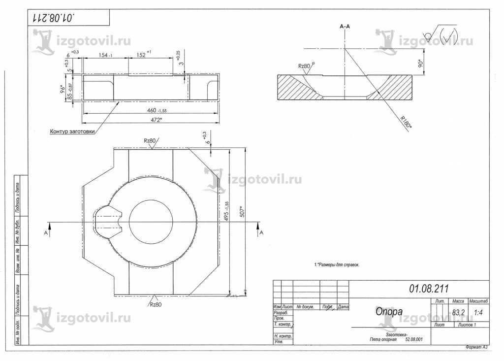 Литейное производство- изготовление опор и головки тяги