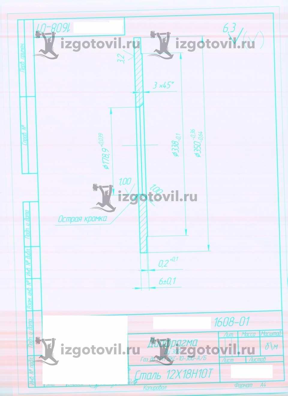 Изготовление деталий по чертежам заказчика