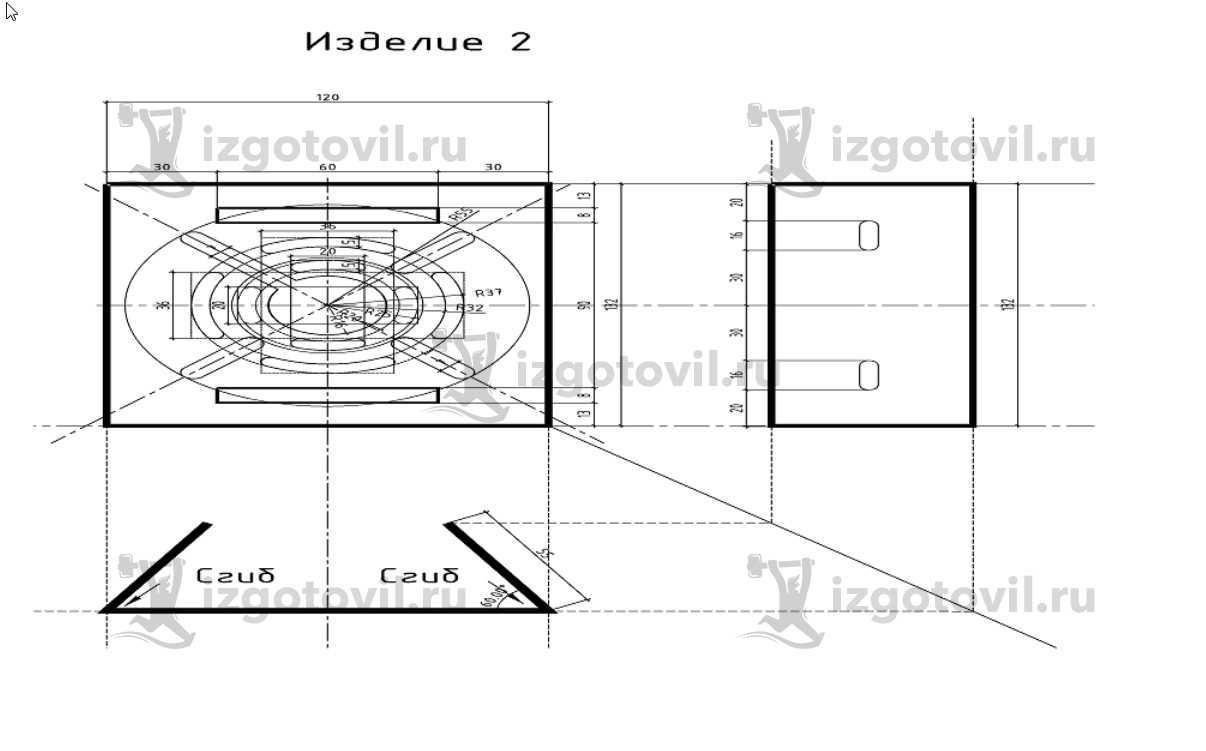 Изготовление деталей по чертежам (кронштейны).