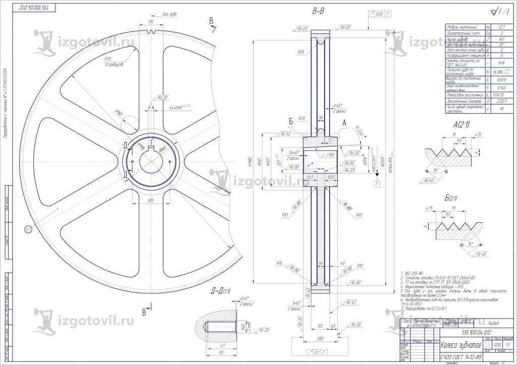 Изготовление цилиндрических деталей (ЗУБЧАТОЕ КОЛЕСО)