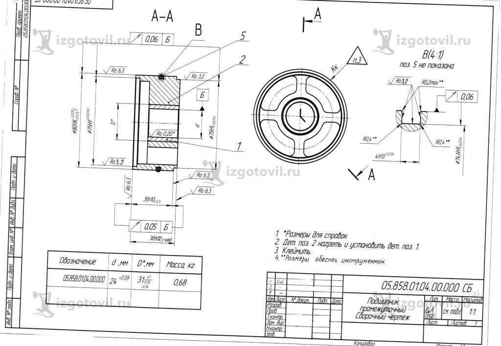 Металлообработка: изготовление втулки и подшипника
