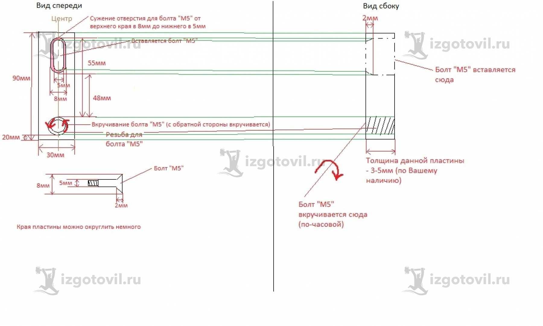 Изготовление деталей по чертежам - изготовление платин