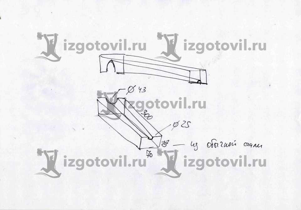 Фрезеровка металла - изготовление оправки