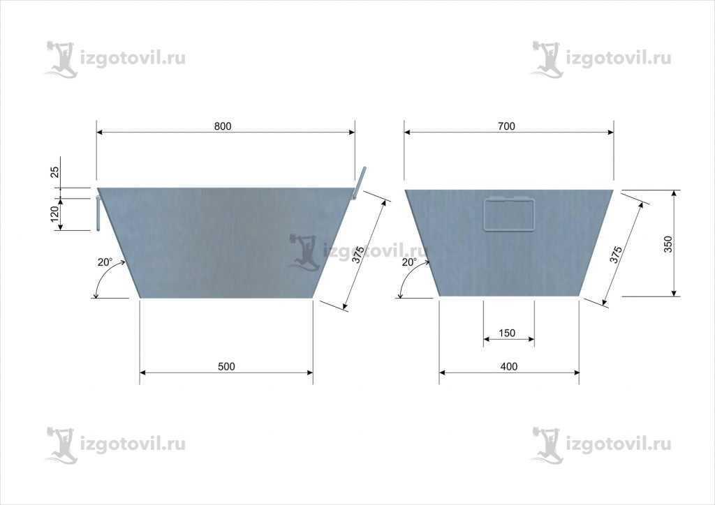 Металлоконструкции: изготовление бака