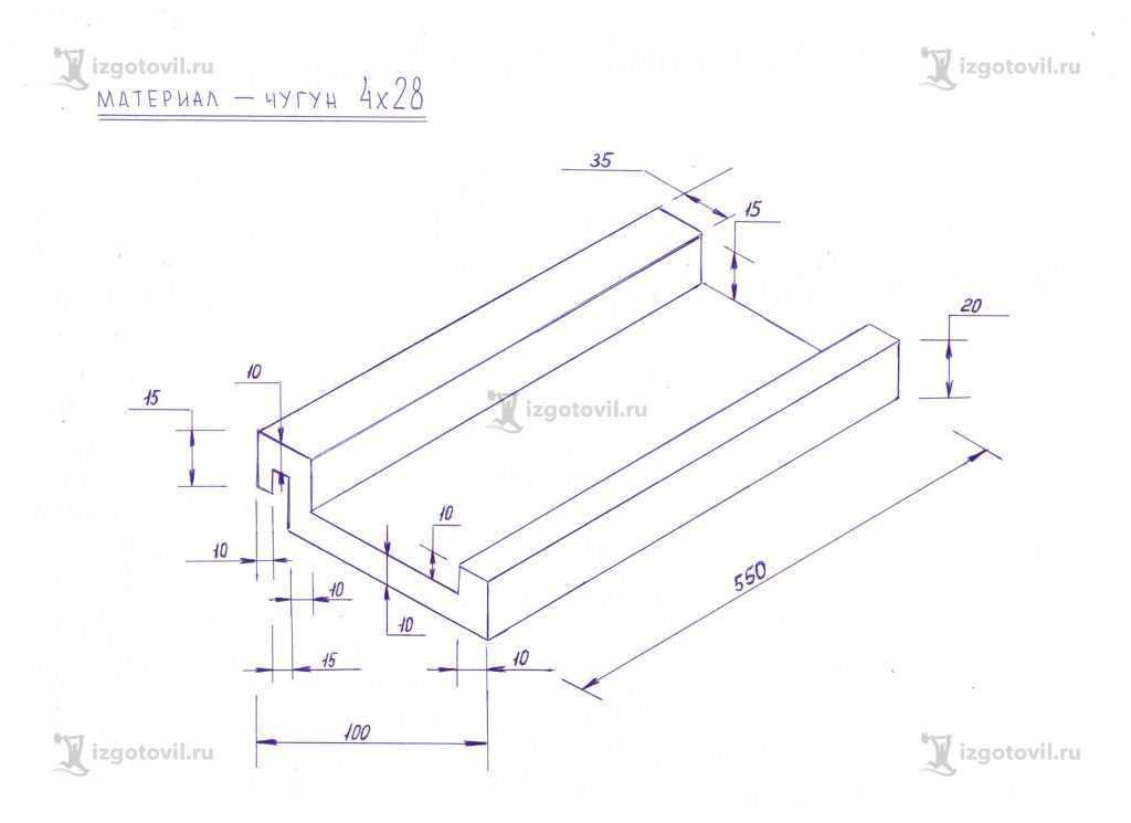 Фрезеровка ( детали из чугуна ЧХ28)