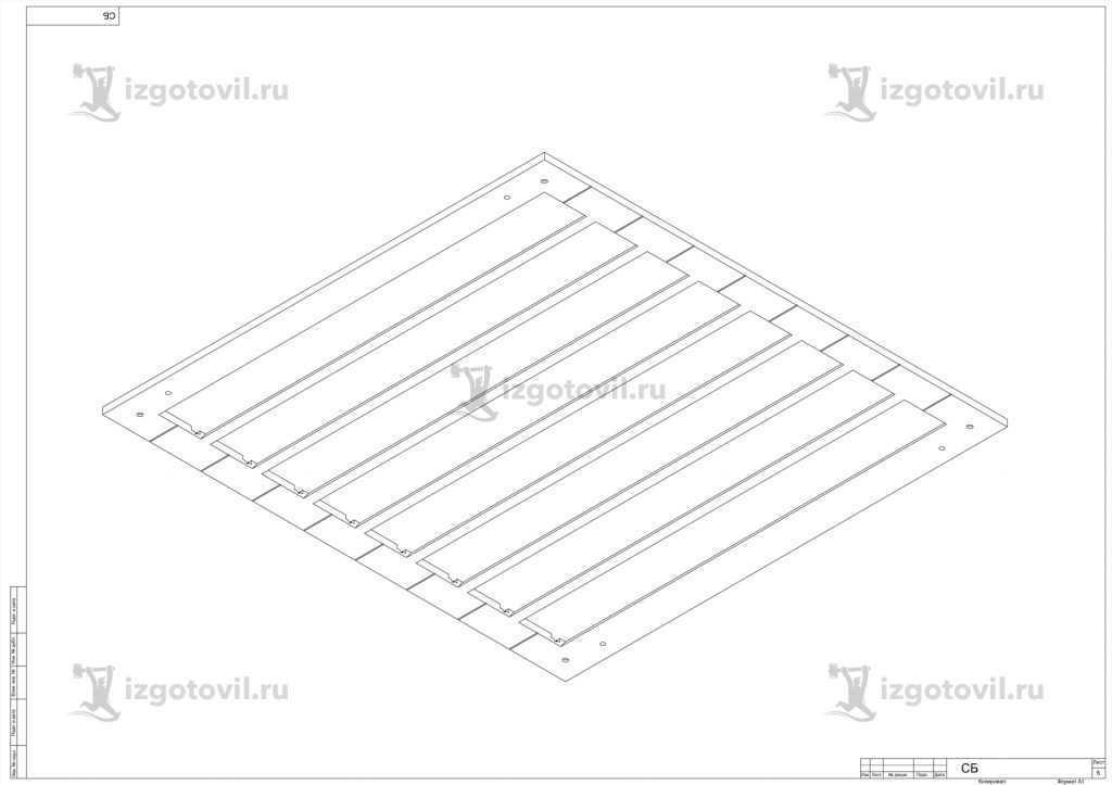 Изготовление деталей оборудования: панели и форма.