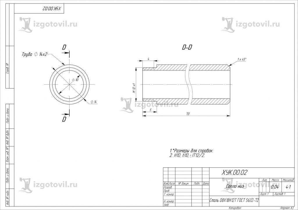 Изготовление цилиндрических деталей (детали).