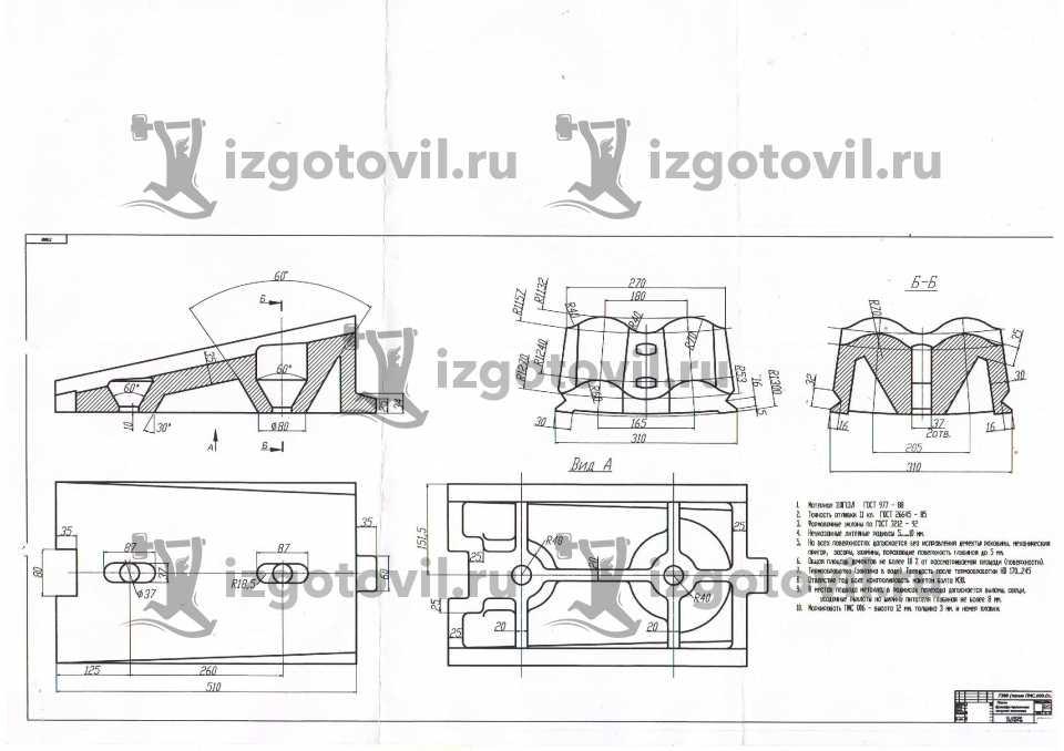 Литейное производство - изготовить бронеплиты