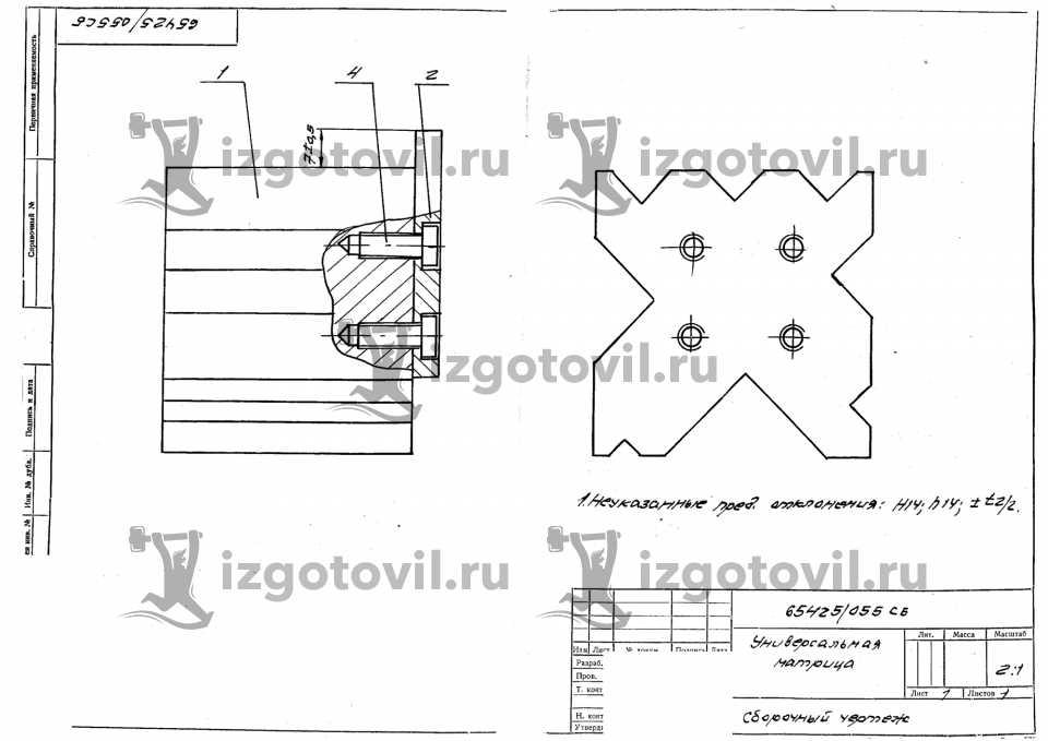 Фрезеровка металла - изготовить матрицы
