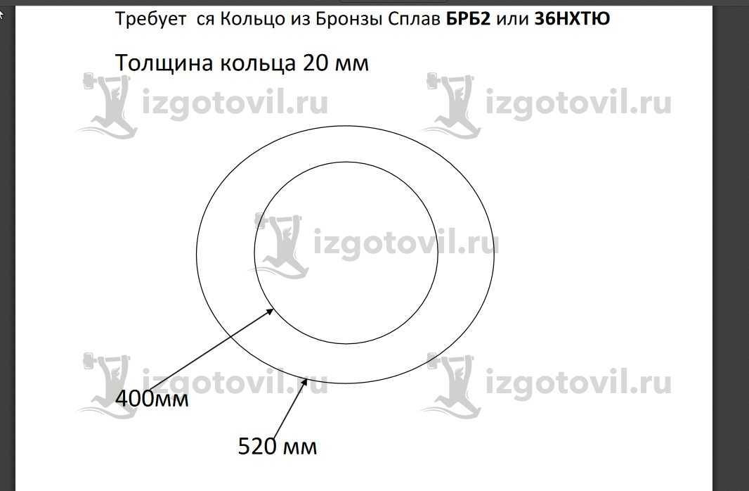 Изготовление цилиндрических деталей (кольцо из бронзы)