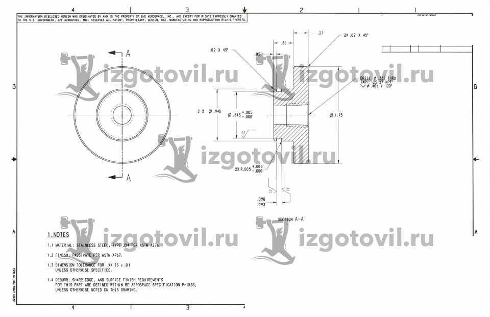 Изготовление деталей на заказ - изготовить инструмент