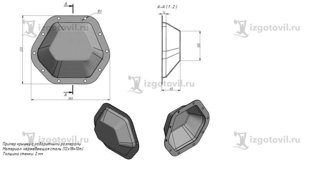 Литейное производство - изготовление крышки