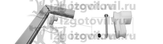 Изготовление деталей на заказ ( деталь для крепежа углов направляющих шин из алюминия.)