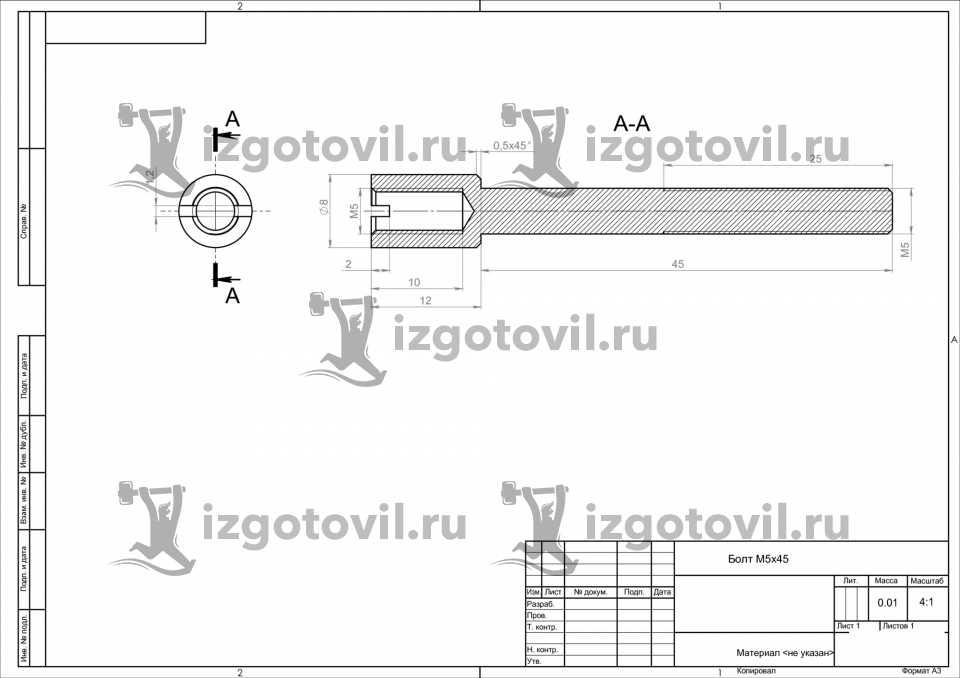Токарная обработка ЧПУ - изготовление болтов