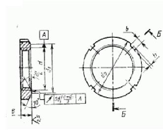Гайка, шайба и скоба для закрепительных и стяжных втулок ГОСТ 8530-90