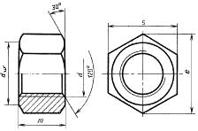 Гайка для фланцевых соединений ГОСТ 9064