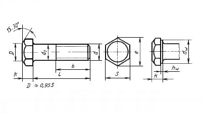 Болт ГОСТ 7798-70