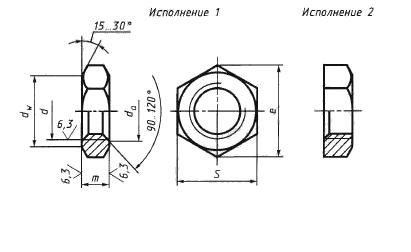 Гайка ГОСТ 15522-70