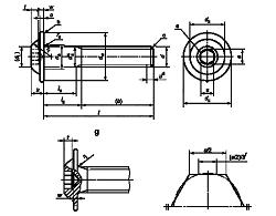 Винт ГОСТ ISO 7380-2-2014 с полукруглой головкой с буртом и шестигранным углублением