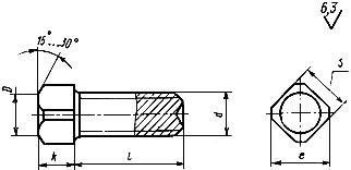 Винт установочный ГОСТ 1485-84 с квадратной головкой и засверленным концом, класс точности А и В